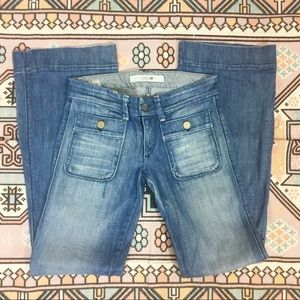 Joe's jeans flat two pocket front flare jeans